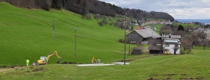 Werkleitungsarbeiten Skilift, Grub
