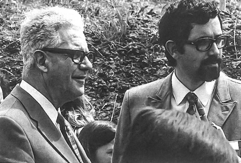 Vater und Sohn in den 70er Jahren